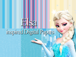Elsa inspired Digital Paper by Safira-09