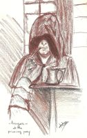 Aragorn at the Prancing Pony by Adutelluma