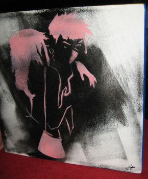 The Kiss stencil by jessicacatherine