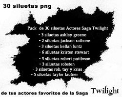 Pack de 30 siluetas de  Actores Saga Twilight by Carol05