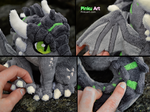 Dragon OC Ullises plush - detail shots by PinkuArt