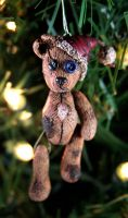 Teddy Bear Christmas Ornament by NeverlandJewelry