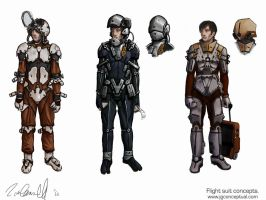 flight suit concepts by DESTRAUDO