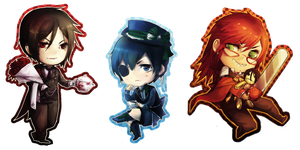 Black Butler Chibi Set by linedup