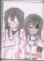 Jeff The Killer and Yufiel by KaylaCullen