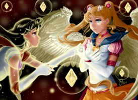 I will not give your friends (Sailor Moon) by Pillara