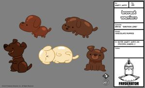 Chocolate Puppies by TheCartoonHangover