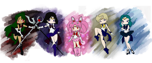 Chibi Outer Senshi by EternalGraveDancer