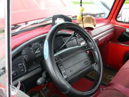 Big Red Ford Interior by Perceptor