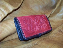 hand made leather checkbook by MerrillsLeather