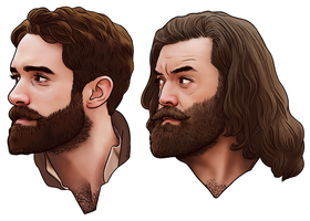 16 Galavant beard bros by harbek