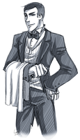 TF2: Butler scout sketch by DarkLitria