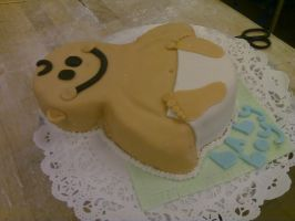 Baby Shower Cake II by AlyceThePirate