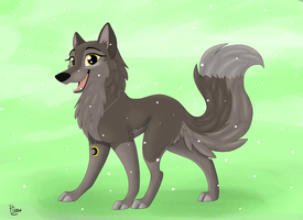 Wolf Request for AmberAcrylic by Elana-Louise