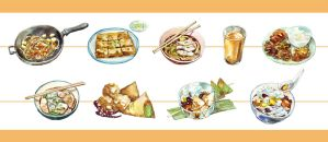 Delicious Thai food by sdPink