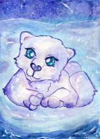 Star gazing Polar Bear by Starrydance
