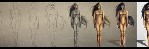 Step by Step Fire 'n Fury_Character Design by LaceWingedSaby