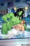 Hot Tub Hulkout by muscle-fan-comics