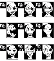 [Undertale] Undyne expression meme by EunDari