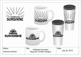 sample tumbler and mug design by karlonne
