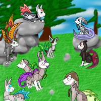 Clueless and friends by HoneyShuckle