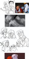 march/april adventure time sketchdump 2013 by ragweed
