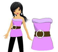 Top with a waist belt download by Shioku-990