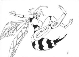 Darkstalkers Reborn, Queen Bee by dragon-kun15