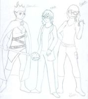 Daniel, Nato and Elspeth by The13thUnluckyJinx