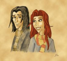 Severus and Lily: The Smile by wotchertonks7