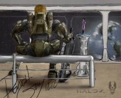 Master Chief and Cortana by PenclGuy