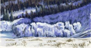 Frosted Slope Colored by h-i-l-e-x