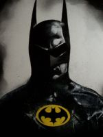 BATMAN  -Michael Keaton- by Devin-Francisco