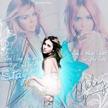 Blend Miley Cyrus blue by MyHeartWithJoe