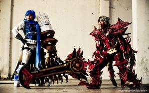 Haseo and Ovan .Hack//GU by Echow88