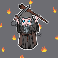 LOTR - Gandalf The Grey by ChibiMagics