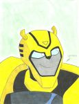 Bumblebee curious smile Transformers Animated by ailgara