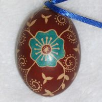 Blue Flower Easter Egg by indystdnt
