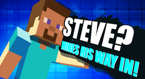 Steve from Minecraft is ready for the fight! by Kyon000