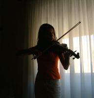 Playing The Violin - Stock 1 by GwenStock