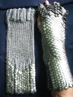Scalemaille Gauntlet Pair by Antagonist357
