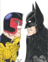 Dredd vs Batman by Crash2014