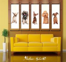 Polyptych in psd - Our pets by Gala3d