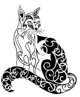 cat tattoo 01 by wolfds