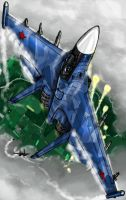 "Su 35 Flanker - "" Gotta Stay Fly"" by grievous15"