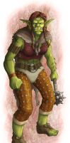 DS: Orc Female colored by willowWISP