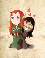 Tauriel and Kili by skullx