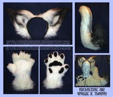 Commission: Arctic Fox Set 2 by Archaeidae