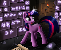 Scroll and runes by Sirzi