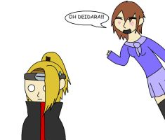 Deidara and Cream SS by MaiShark